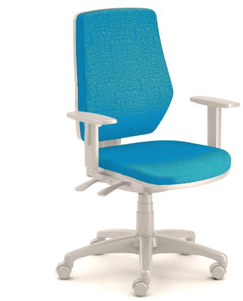 Emagra kancelářská židle LEX 229/BG - šedý plast - modrá
