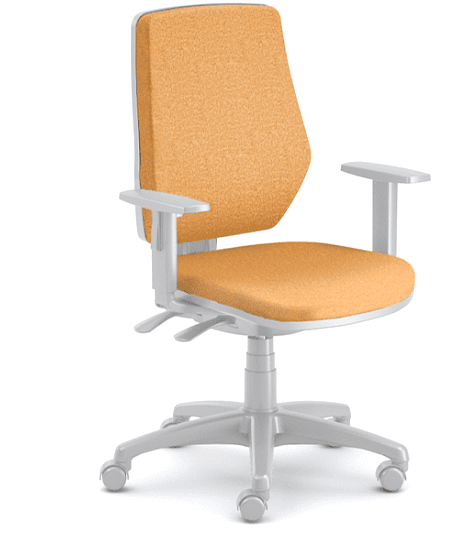 Emagra kancelářská židle LEX 229/BG - šedý plast - oranžová