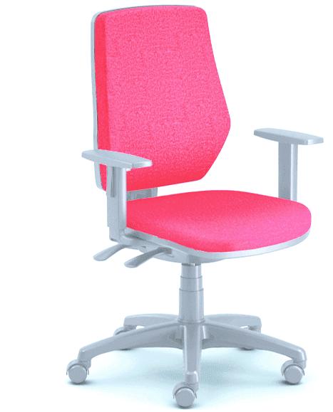 Emagra kancelářská židle LEX 229/BG - šedý plast - červená