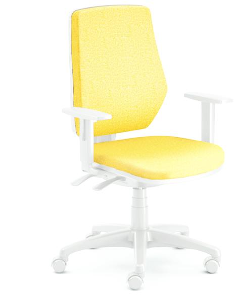 Emagra kancelářská židle LEX 229/BG - šedý plast - žlutá