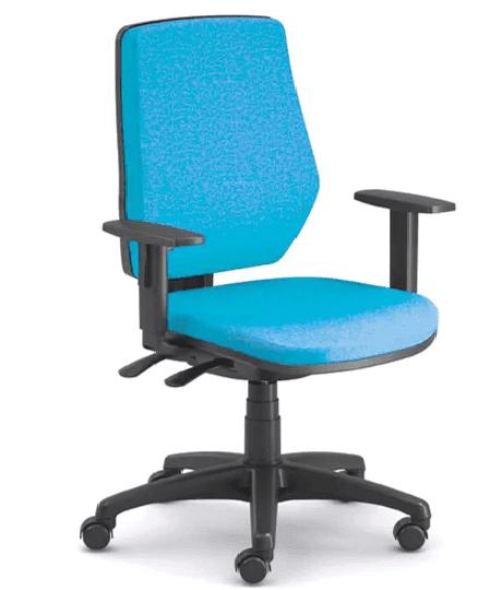 Emagra Kancelářská židle LEX 229/B - černý plast - modrá