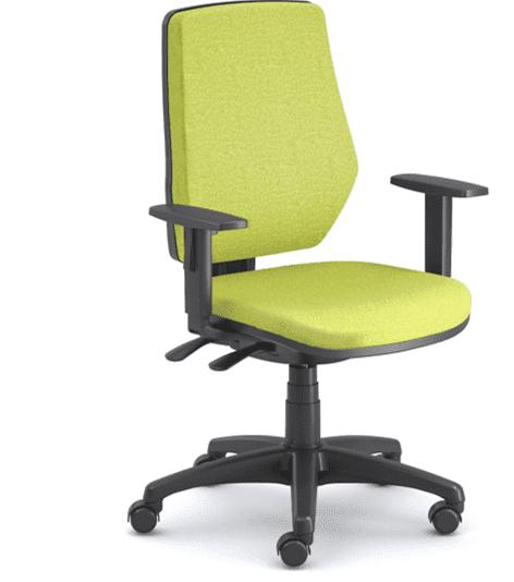 Emagra kancelářská židle LEX 229/B černý plast - zelená