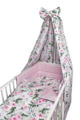 COSING COMFORT 4D-s ágynemű-garnitúra - Virágok, rózsaszín