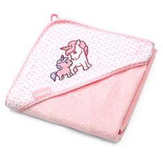 BabyOno bambusowy ręcznik z kapturem 100 x 100 cm, różowy