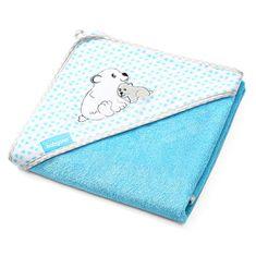 BabyOno bambusowy ręcznik z kapturem 100 x 100 cm, niebieski