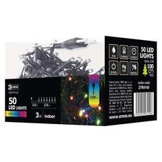 Emos božične lučke, 50 LED, 2,5 m, večbarvne