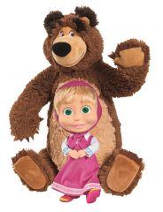 SIMBA Máša a medveď Set Míša plyšový 43cm a bábika Máša 23cm