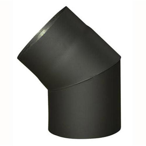 Eurometal Koleno kouřové 120 mm/45°, t.1,5 mm, černé