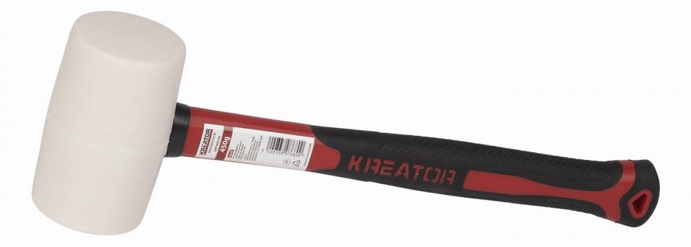 Kreator KRT904104 - Gumová palice bílá 450g - Laminátová násada