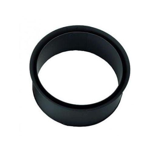 Eurometal Zděř kouřová dvojitá 130 mm , t.1,5 mm, černá