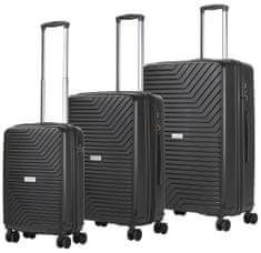 CARRY ON Sada kufrů Transport Black 3-set