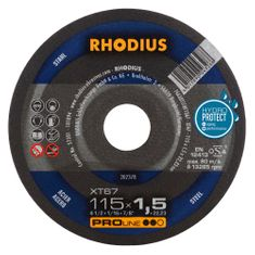 Rhodius Rezný kotúč kov 115x1,5x22,2 XT67