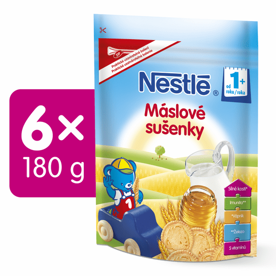 Nestlé Máslové sušenky 6x180g