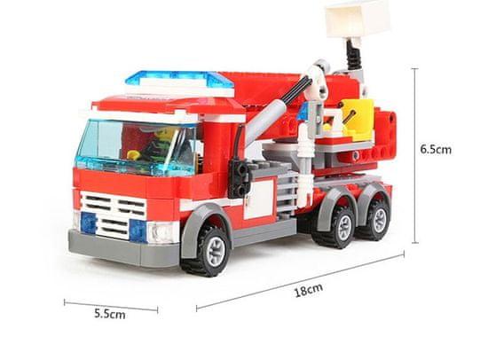 Blocki Blocki stavebnica Hasiči - Hasičské auto s plošinou kompatibilná 244 dielov