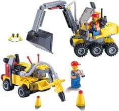 Blocki Blocki stavebnice MyCity Stavba bagr a sbíječka kompatibilní 196 dílů