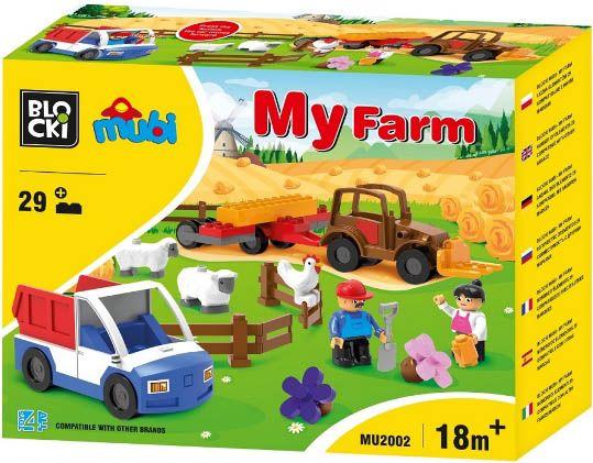 Blocki Blocki Mubi stavebnice Farma typ LEGO DUPLO 29 dílů