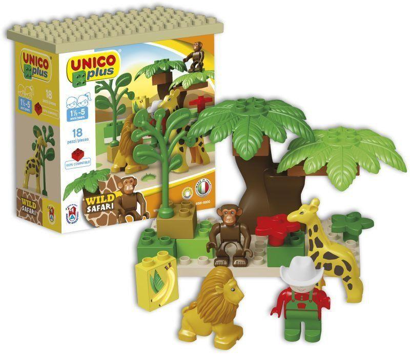 Unico Plus Unico Plus stavebnice Divoké Safari typ LEGO DUPLO 18 dílů