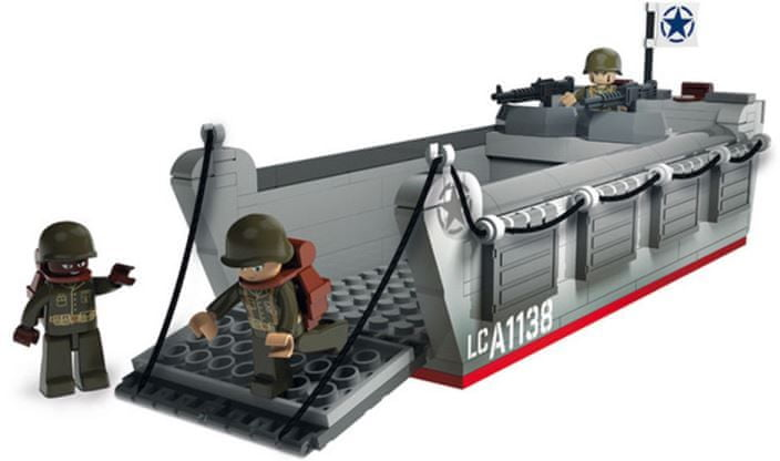 Sluban Stavebnice Vyloďovací člun WW2 typ LEGO 221 dílů