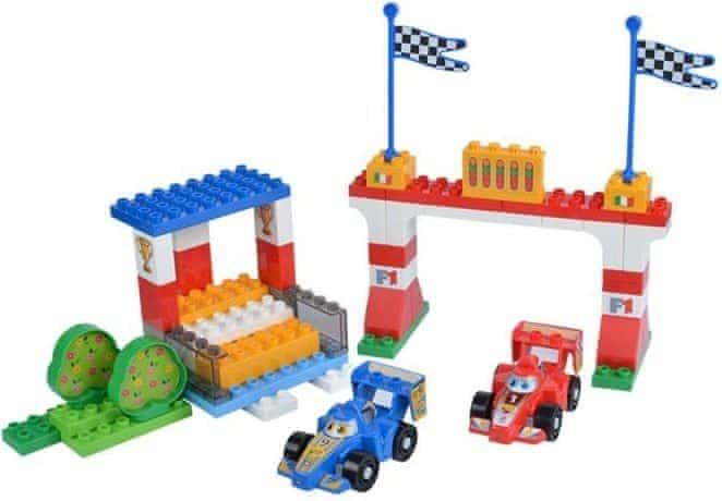 Unico Plus Unico Plus stavebnice Autodrom F1 typ LEGO DUPLO 61 dílů