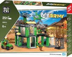 Blocki Blocki stavebnice MyArmy vojenská základna kompatibilní 251 dílů