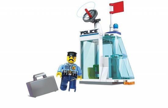 Blocki Blocki stavebnica Policajná stanica 2v1 kompatibilná 57 dielov