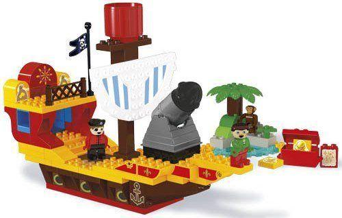 Unico Plus Unico Plus stavebnice Pirátská loď typ LEGO DUPLO 100 dílů