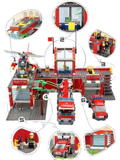 Blocki Blocki stavebnice Hasiči - Hasičská stanica veľká kompatibilná 774 dielov