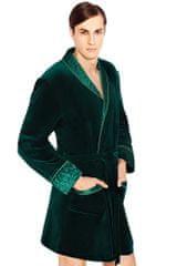 Wanmar Luxusní pánský župan Bonjour temně zelený krátký M