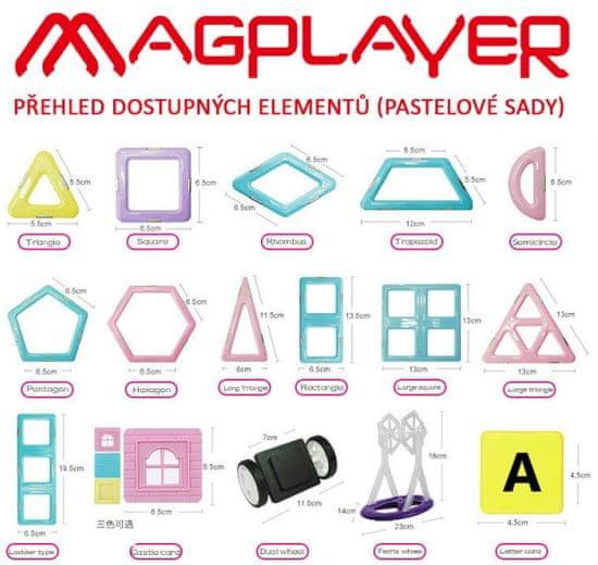 MAGPLAYER Magplayer magnetická stavebnice 52 ks