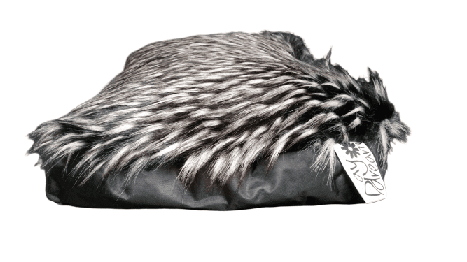 Psí a kočičí pelíšky FURRY Černá, Malý 70x45x10 cm