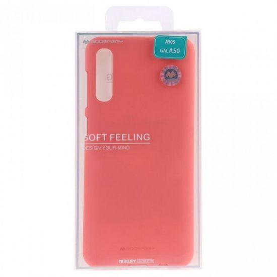 Goospery Soft Feeling ovitek za Samsung Galaxy A80 A805/A90 A905, silikonski, roza