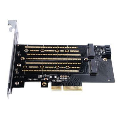 Orico PDM2 SSD adapter, M.2 NVMe/SATA v PCIe 3.0 x4