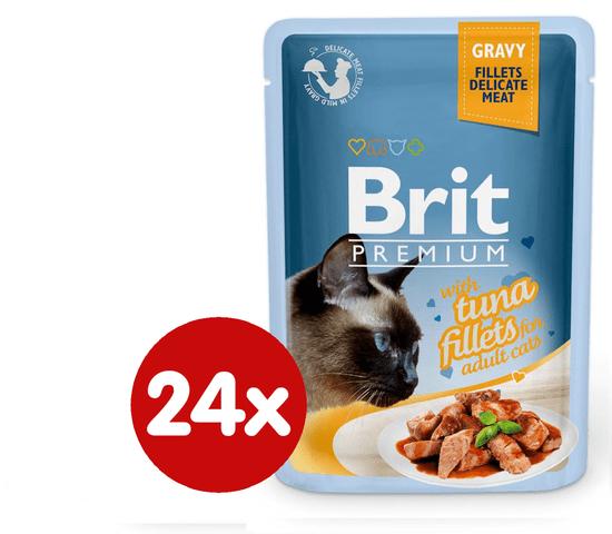 Brit Premium fileji tune v želeju, za mačke, 85 g, 24 kos