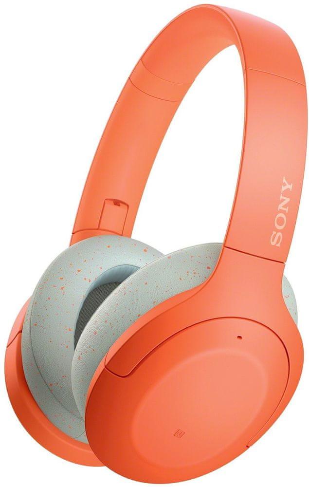 Sony WH-H910N bezdrátová sluchátka, oranžová