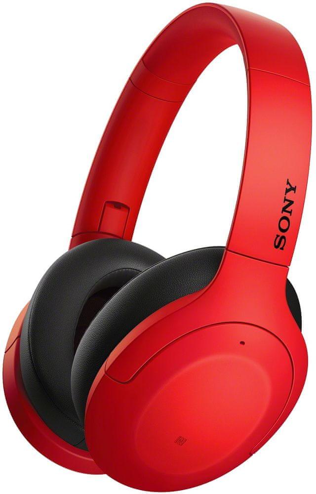 Sony WH-H910N bezdrátová sluchátka, červená