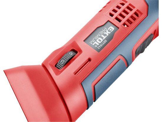Extol Premium Bruska multifunkční aku SHARE20V, rychloupínací, 20V Li-ion, bez baterie a nabíječky