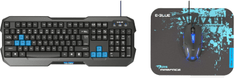E-Blue Set Polygon + Cobra II + Mazer S, černá/modrá, US (EKM820BK)
