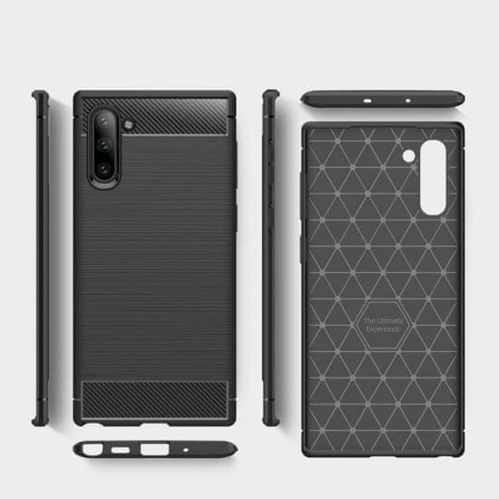Maska za Samsung Galaxy Note 10 Plus N975, silikonska, Carbon, mat crna