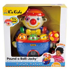 K´s Kids Zatloukačka Klaun se zvuky