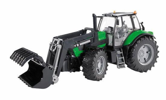 BRUDER Farmer - traktor Deutz Agrotron s predným nakladačom