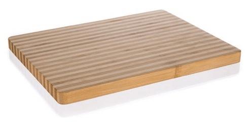 Banquet drewniana deska do krojenia BRILLANTE Bamboo 33x25x2 cm, cienkie paski