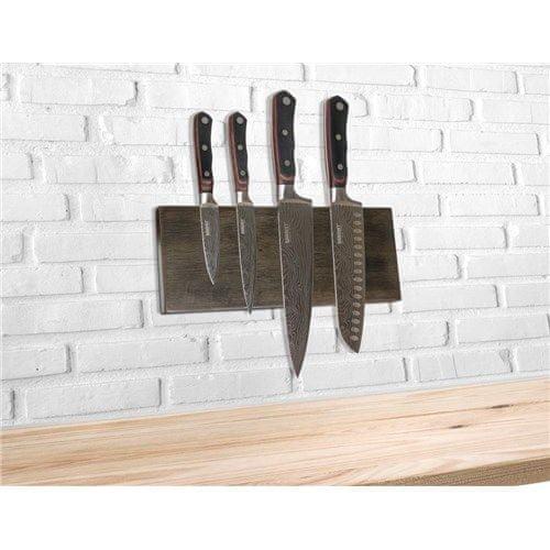 Banquet Rubberwood magnetna daska za noževe, 30 x 12 cm