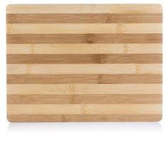 Banquet Prkénko krájecí dřevěné BRILLANTE Bamboo 33x25x2 cm, široké pruhy