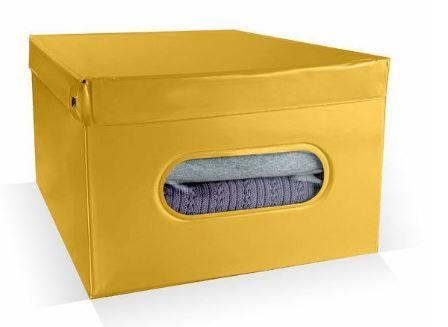 Compactor Nordic skládací úložný box PVC se zipem 50 x 38.5 x 24 cm, žlutý