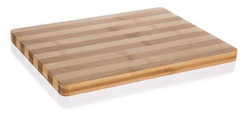 Banquet Brillante Bamboo lesena deska za rezanje z ročaji, 33 × 25 × 1,5 cm