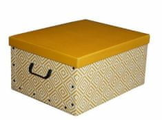 Compactor Skládací úložná krabice - karton box Nordic 50 x 40 x 25 cm, žlutá