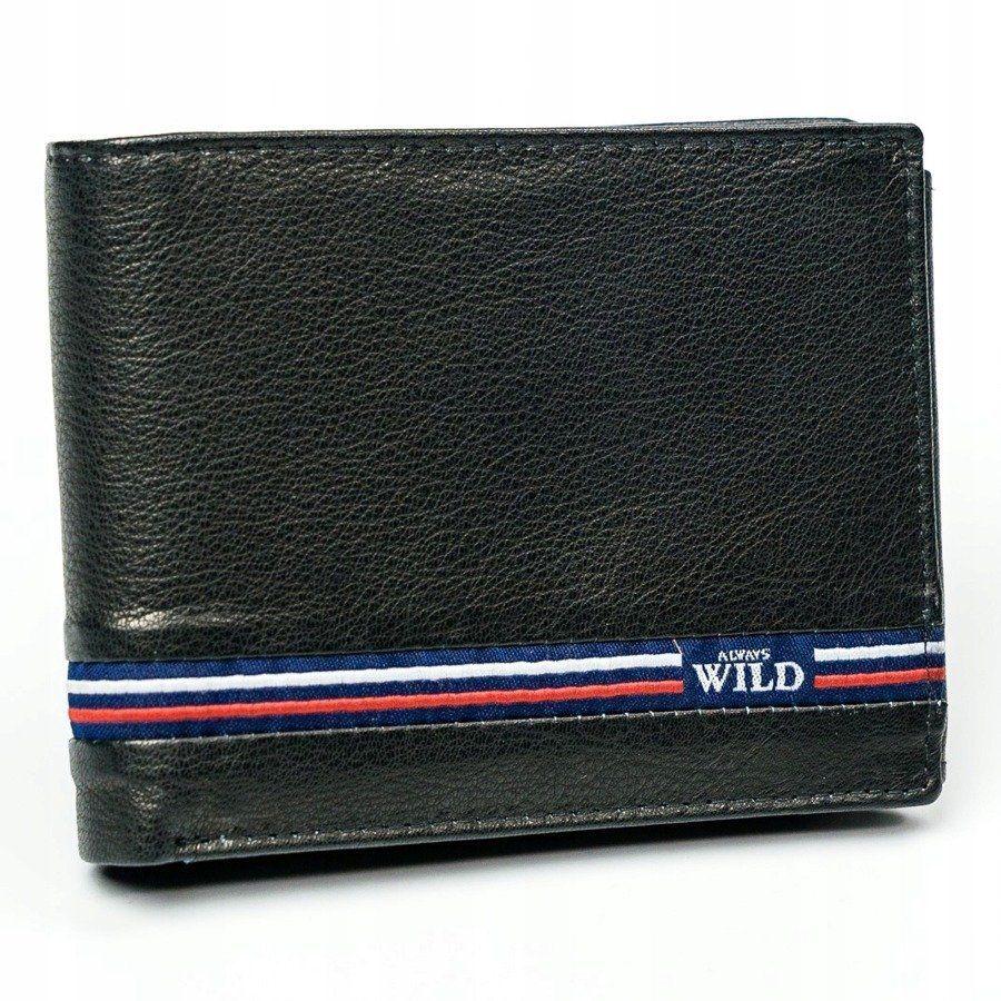Always Wild Moderní kožená peněženka Nino, černá