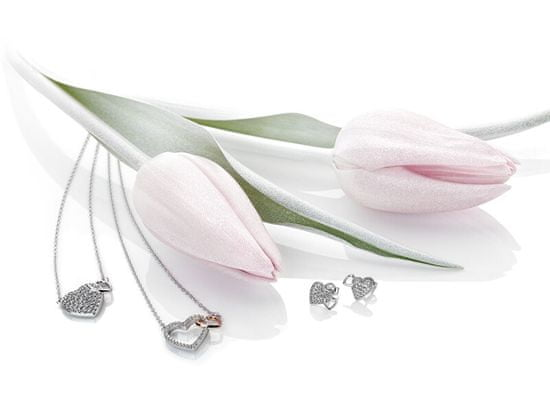 Hot Diamonds Svetleči uhani s pravim diamantom Flora DE607