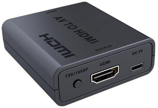 PremiumCord Převodník AV kompozitního signálu a stereo zvuku na HDMI 1080p (KHCON-47)