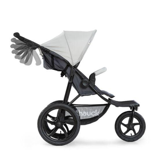 Hauck otroški voziček Runner 2020, silver/grey, srebrn/siv